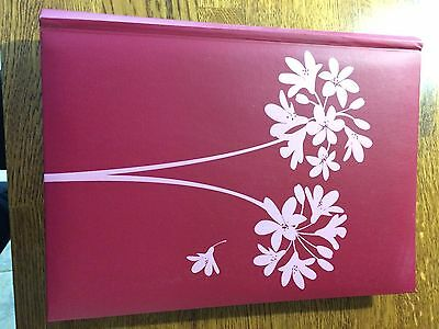 A4 Photo Album Pink Flowers
