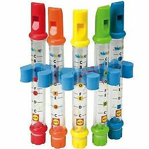 Music Song Water Flutes  Sheets Instruments Kids Fun Children Bath Toy Set Of 5
