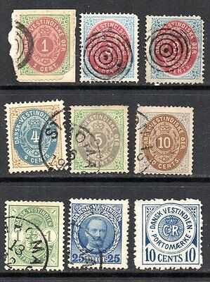 DANISH WEST INDIES – small used collection