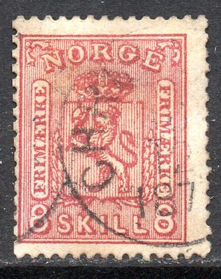 NORWAY – 1867 Coat of Arms 8sk. used, clear print