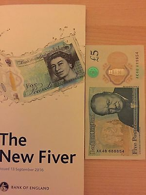 New rare AK46 collectable  £5 five pound note