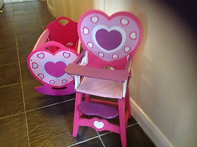 Baby Annabelle Highchair And Crib