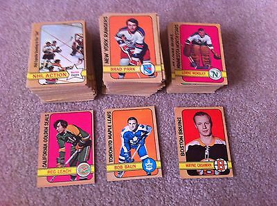 Near Complete Set 295/340 72/73 OPC old vintage Hockey Cards VG-EXMT