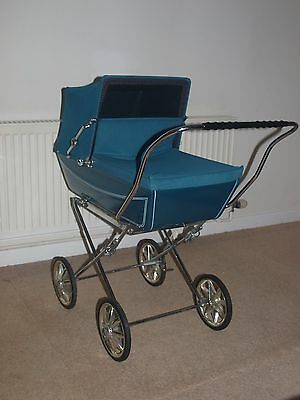 Vintage Silver cross dolls pram in Beautiful Condition