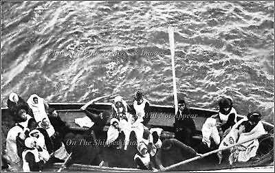 Photo: RMS Titanic Lifeboat With Baby Ties Up To Carpathia, April 15, 1912