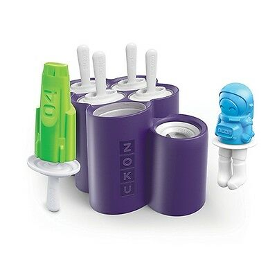Zoku Space pops Slow pops Rocket and astronaut Ice Lolly moulds with drip guards