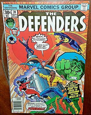 The Defenders #39, (1976, Marvel): Riot in Cell Block 12!