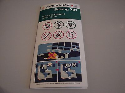 Air France - Boeing 787-900 - New Safety Card (Ref 9005761 11/2016) Collectable