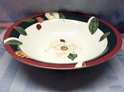 Tienshen FIne China Christmas Pinecone Magnolia Vegetable Serving Bowl PERFECT