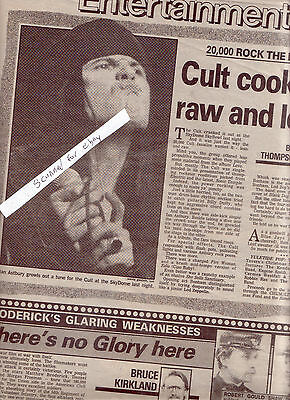 The Cult Ian Astbury Concert Review With Photo 1989 Toronto