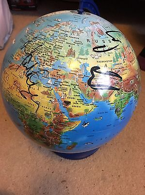 Signed Take That World Globe *very Rare*
