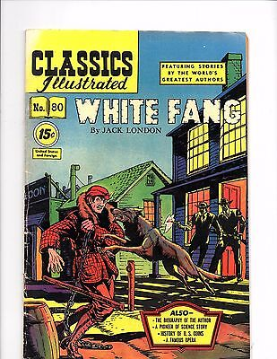 Classics illustrated # 80 White Fang HRN 87 VFN+