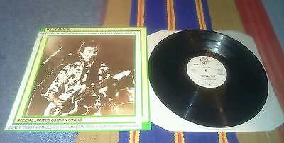 """Ry cooder - crazy'bout an automobile +3trk - 12""""single 1981 ex.con"""