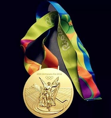 Rio 2016 Olympic Gold Medal With Ribbon - Brand New - Uk Seller