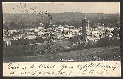 Dorset. Beaminster, A View Across The Village. 1902 Posted Frith Postcard
