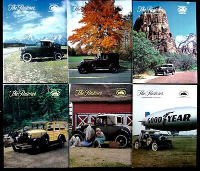 6 issues The Restorer the Magazine for Model A Ford Enthusiasts Complete 1987