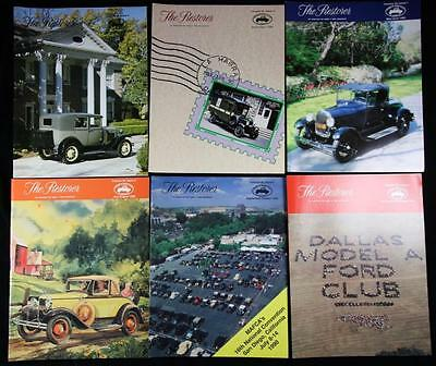 6 Issues The Restorer the Magazine for Model A Ford Enthusiasts Complete 1990
