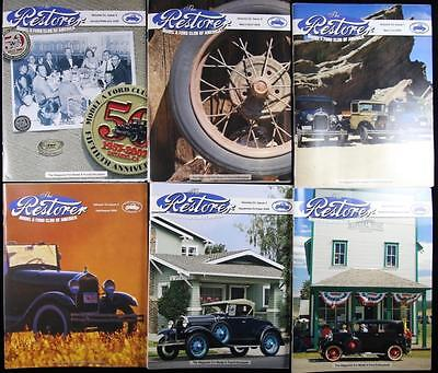 6 Issues The Restorer the Magazine for Model A Ford Enthusiasts Complete 2008