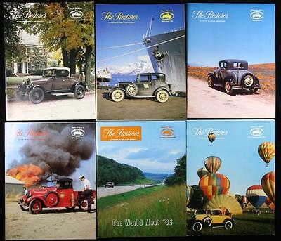 6 issues The Restorer the Magazine for Model A Ford Enthusiasts Complete 1986
