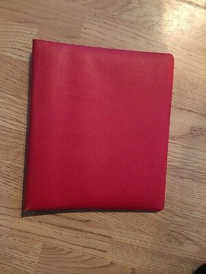 GREAT BRITAIN 22 RING BINDER RED ( Used )