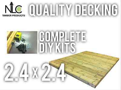 Quality Decking Kit 2.4m x 2.4m with Everything Screws Membrane Joist Hangers