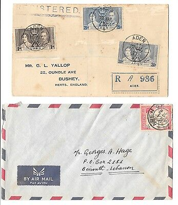 5 different Aden covers 1937-1961 camels