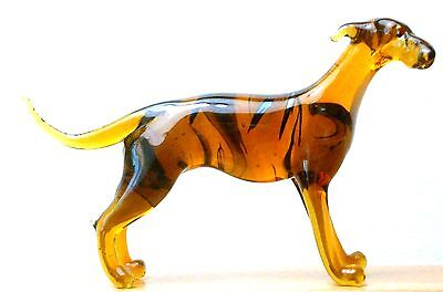 "Hand Blown ""murano"" Glass Collectable  Whippet Italian Greyhound Dog   Figurine"