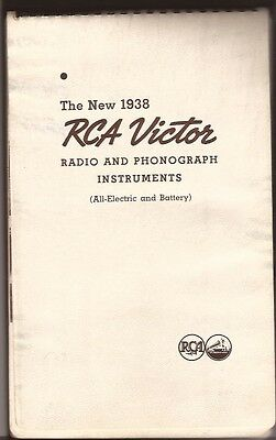 1938 Valve Radio Phonograph Catalogue Rca Victor Hmv
