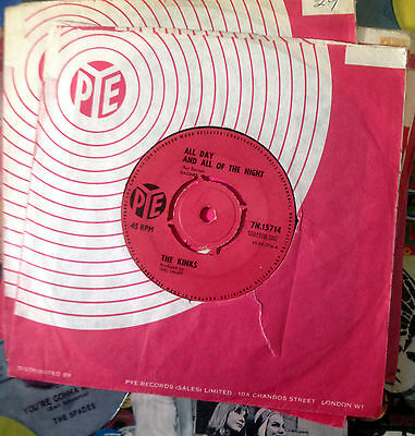 The Kinks - All Day And All Of The Night/I Gotta Move (Pye 7N 15714) Orig 1964