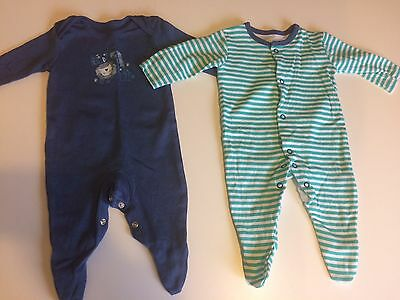 Baby Boys Baby Grows 0-3 Months 2 Pack