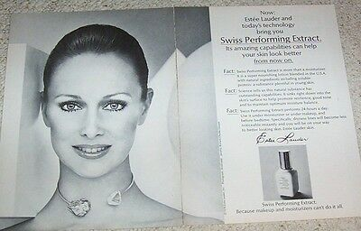 1978 print ad - Estee Lauder Cosmetics PRETTY GIRL vintage 2-page advertising AD
