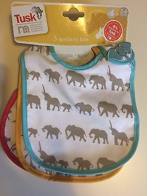 Baby Bibs Mothercare 0-6 Months 3 Pack