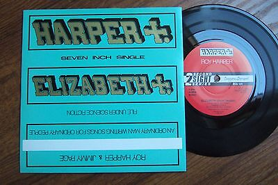 """Roy Harper / Jimmy Page - Elizabeth - P/s 7"""" Beggars Banquet 131/1985 Nm To Mint"""