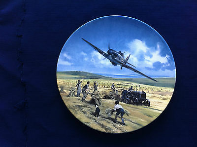 """Royal Doulton Heroes Of The Sky """"Hurricane Victory Pass"""" plate"""