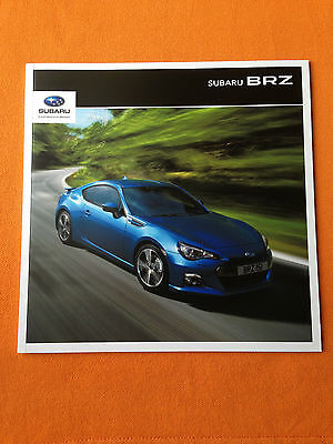 Subaru BRZ coupe dealer marketing paper brochure catalogue 2015 MINT BR Z BR-Z