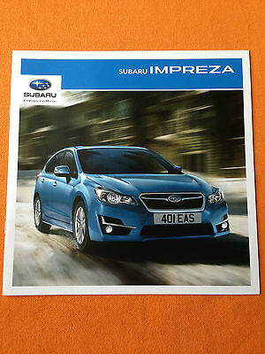 Subaru Impreza dealer marketing paper brochure sales catalogue 2015 MINT
