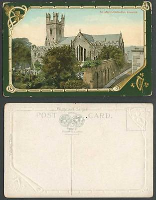 Ireland St Mary's Cathedral Co Limerick Old Embossed Irish Color Postcard Church