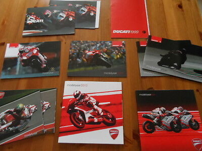 Ducati Selection of Annual Brochures - various years and models.