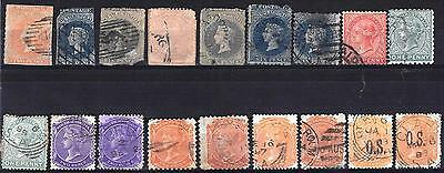 South Australia Queen Victoria collection of stamps Used mixed condition