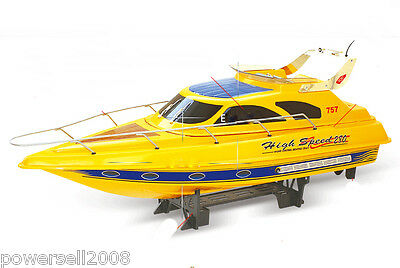 Yellow Length 81CM Remote Control Boat Simulation Racing Boat Model Gift Toys