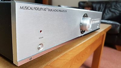Musical Fidelity A3cr Stereo Preamplifier Dual Mono - boxed with remote control.