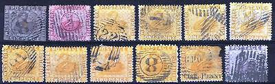 Western Australia Queen Victoria Mixed Collection Swan stamps Used