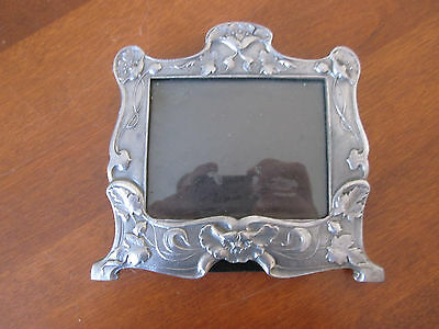 Lenox Kirk Stieff Pewter FLORAL  Picture Frame leaves and flowers