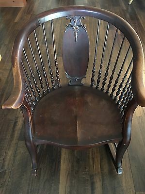 Solid Wood Antique Rocking Chair -  Local Pick Up Only