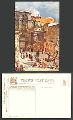 Palestine Jerusalem Old Tuck's Postcard Forecourt, Church of The Holy Sepulchre