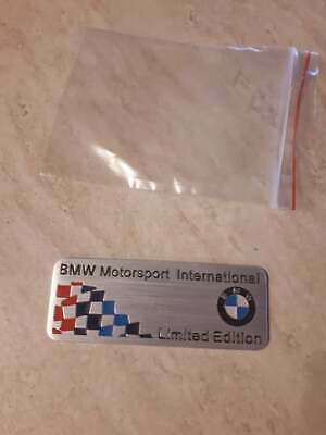 BMW LIMITED EDITION BADGE M Power BADGE DECALS