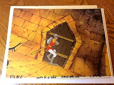 Dragon's Lair animation Cel + drawing * Don Bluth space ace art production dirk
