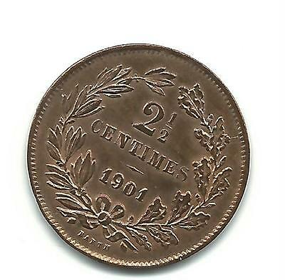 "Luxemburg 2 1/2 Centimes 1901 vz, siehe Foto! ""BARTH"" Adolphe (1890-1905) -"