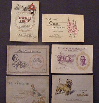 Nice lot of 6 complete Wills cigarette card albums