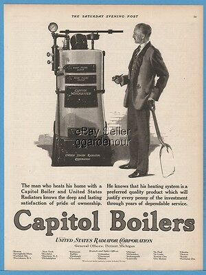 1924 United States Radiator Detroit MI Capitol Winchester Boiler Home Heating Ad